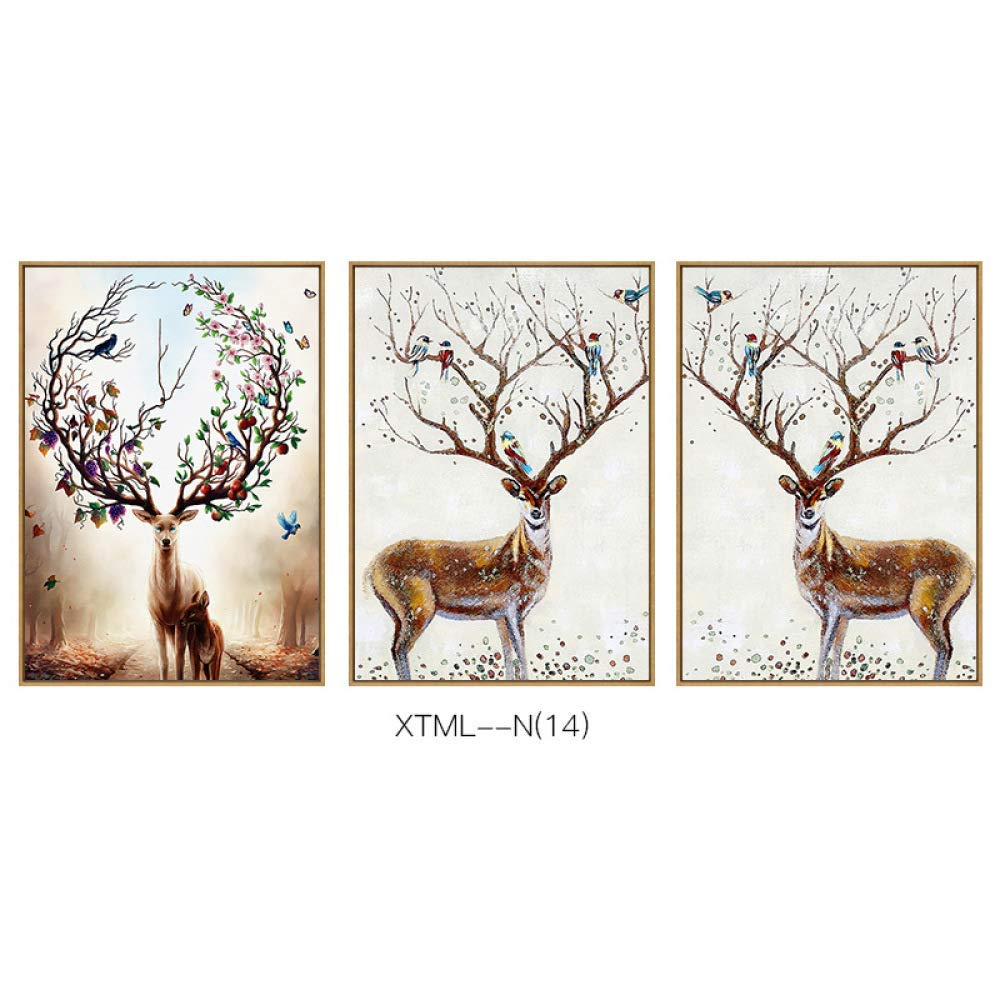 DEED Fortune Deer Modern Jane European Animal Pattern Exquisite Home Living Room Bedroom Porch Decorative Painting