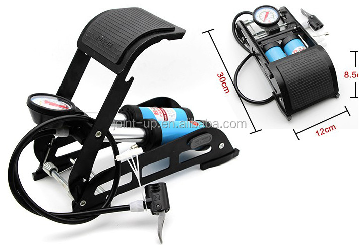 Double Cylinder Portable Foot Operated Pedal Tire Air Pump