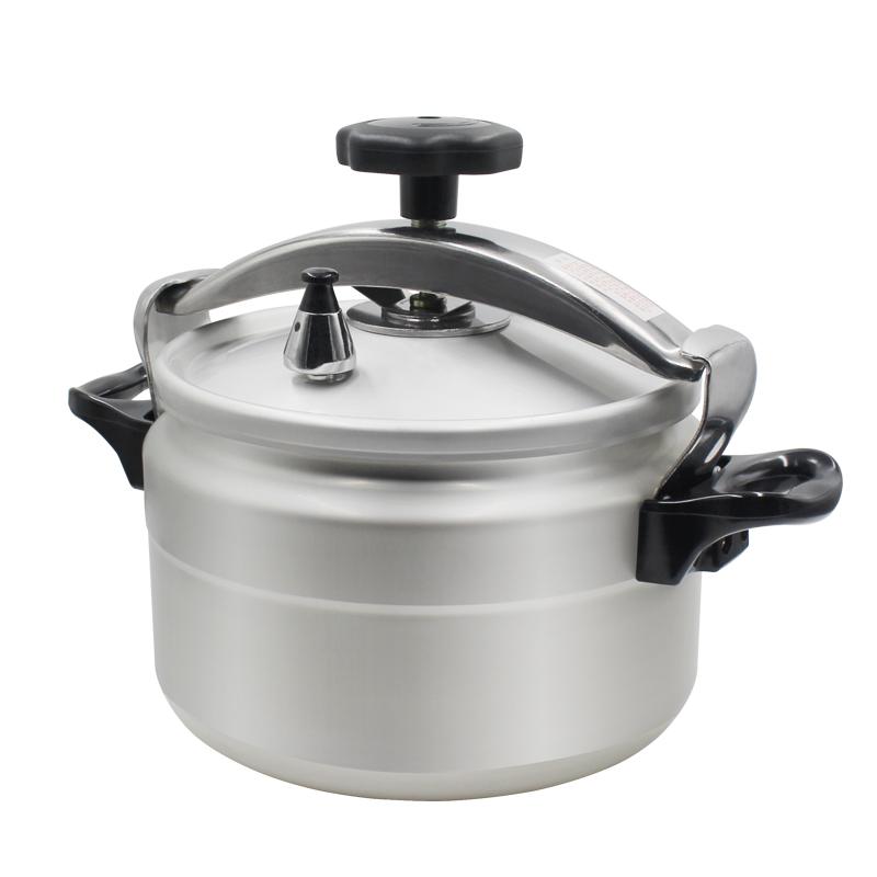 7L~15L Capacity Aluminum Explosion-Proof Pressure Cooker 9L Silver