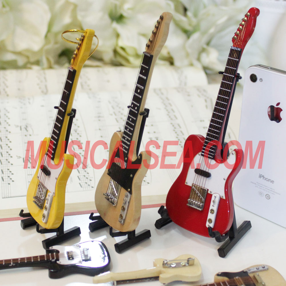 New design mini electric guitar and custom wooden crafts / christmas ornament