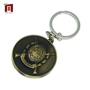 Custom Jamaica Security Gold Foil Tiger Connector Key Ring Keychain With Name