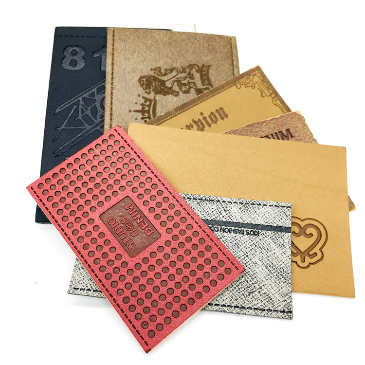 Best quality promotional pu leather patches label for garment