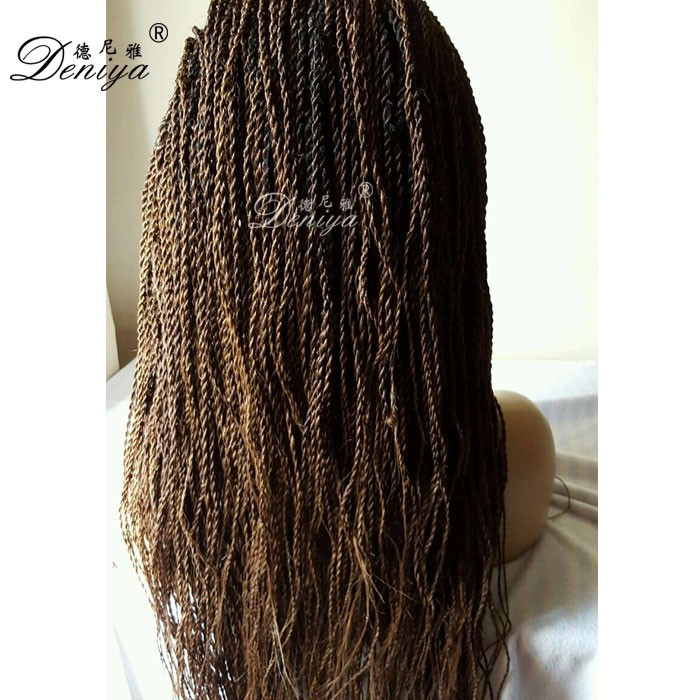 Cheap Micro Braiding Hand Made Ombre Lace Front Senegalese