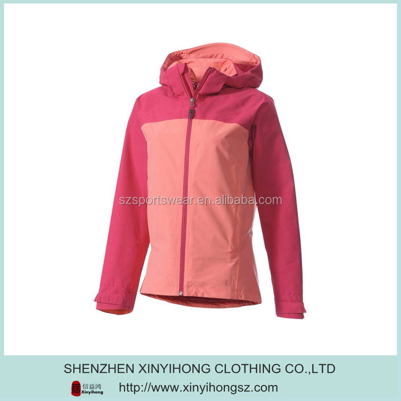 Polyester Stretch Color Combination Ladies Sportswear Jacket