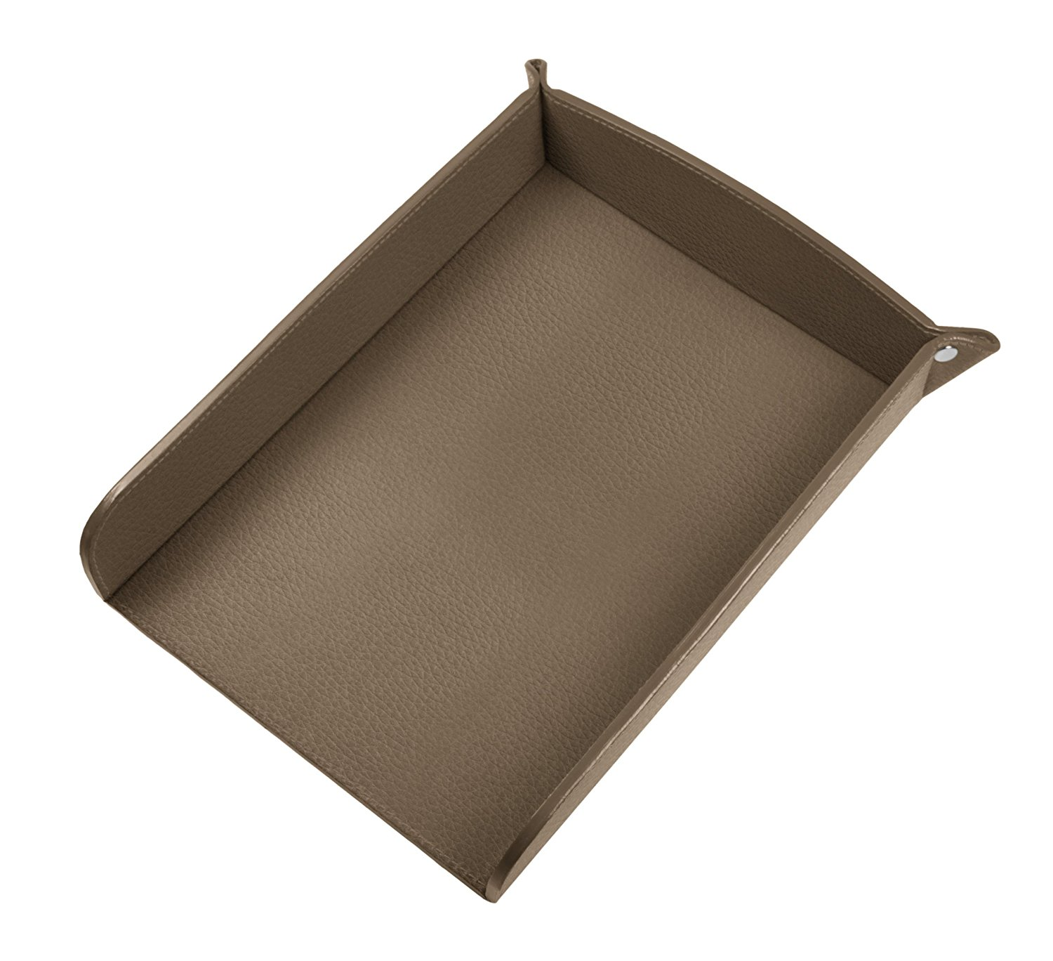 Lucrin USA Inc. A5 Paper Leather Holder, Granulated Cow, Dark Taupe