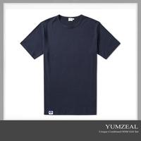 wholesale elongated crew neck custom logo t shirt