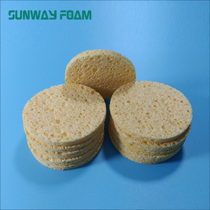 SUNWAY 2018 Hot Sale Face Washing Tools Cleansing Cellulose Sponge