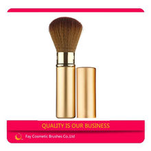 Gold ds gift cosmetic brush retractable brush with Custom Logo and Free Sample Retractable Brushes
