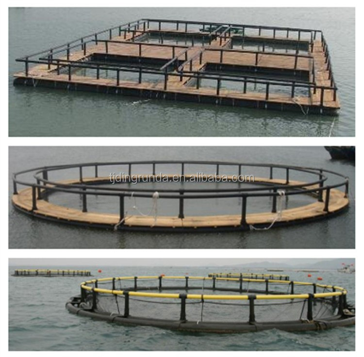 High quality HDPE fish farming cage floating type lake system 3m 5m