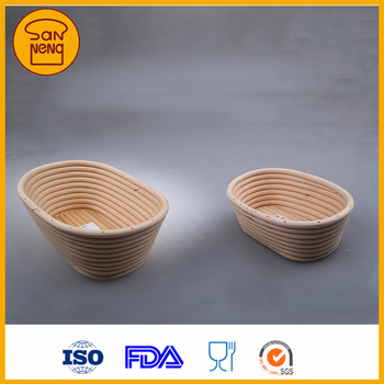 Handmade Natural Color Rattan Proving Basket