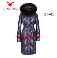 Brand new designed elegant winter jackets and coats women overcoat with fur hood