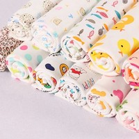 Soft and breathable anti-static 100% cotton baby printed organic cotton fabric interlock