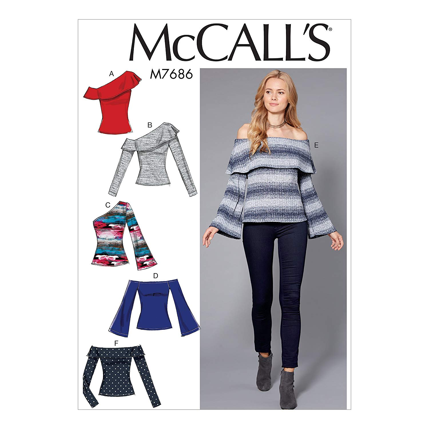 XXS-XS-S-M-L-XL-XXL Simplicity Creative Patterns 1317 Misses Pullover Knit Top Sewing Patterns Size A