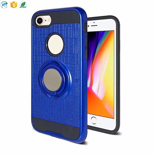 wholesale 360 ring holder full protective cell phone case for iphone 8 case