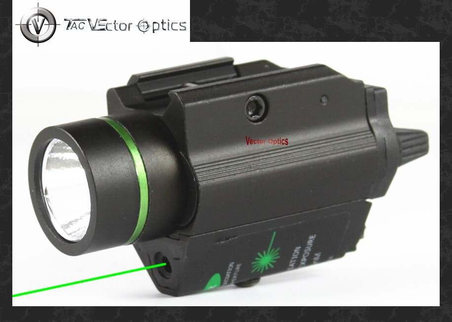 Vectop Optics Tactical Pistol Led Flashlight Green Laser