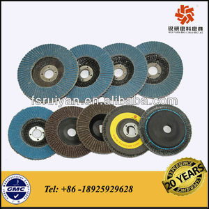 RY842S zirconia blue grinding flap disc for stainless steel, iron