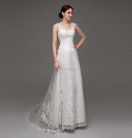 Simple cheap small a-line tulle bohemian wedding dress for beach weddings