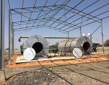 China advanced mini pyrolysis waste tires plastic to fuel oil plant