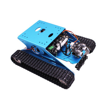 Yahboom G1 blue professional Arduinos UNO R3smart robot car track with aluminum alloy platform and Bluetooth App