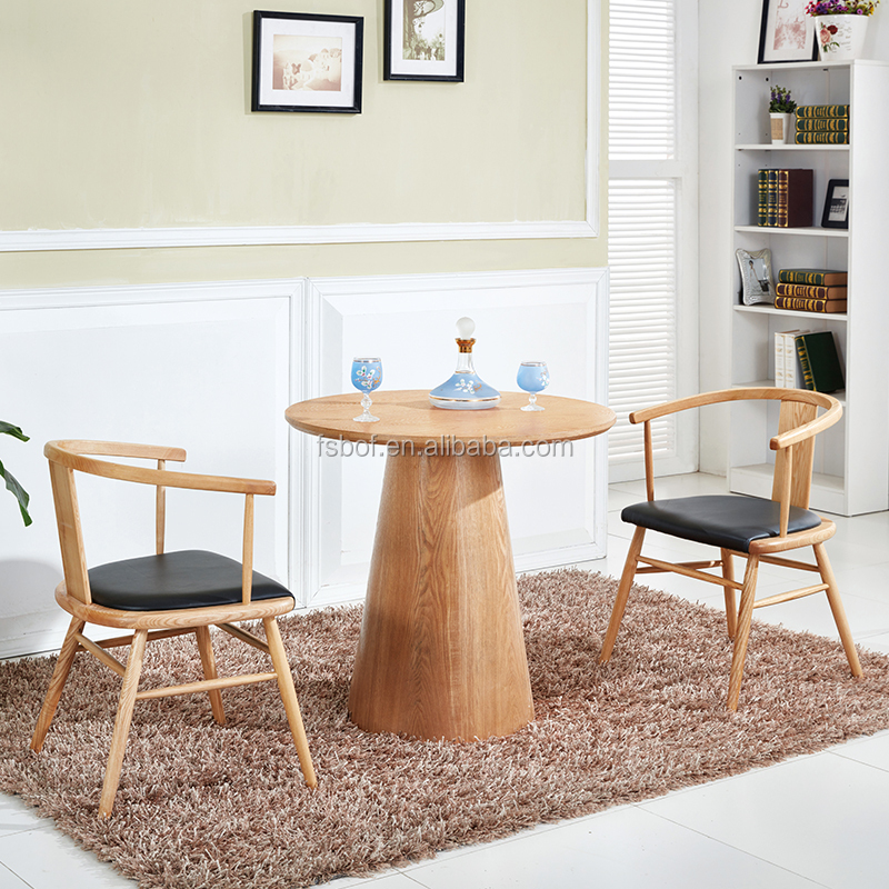 famous designers dining chairs and round table wood frame arm chair EC012