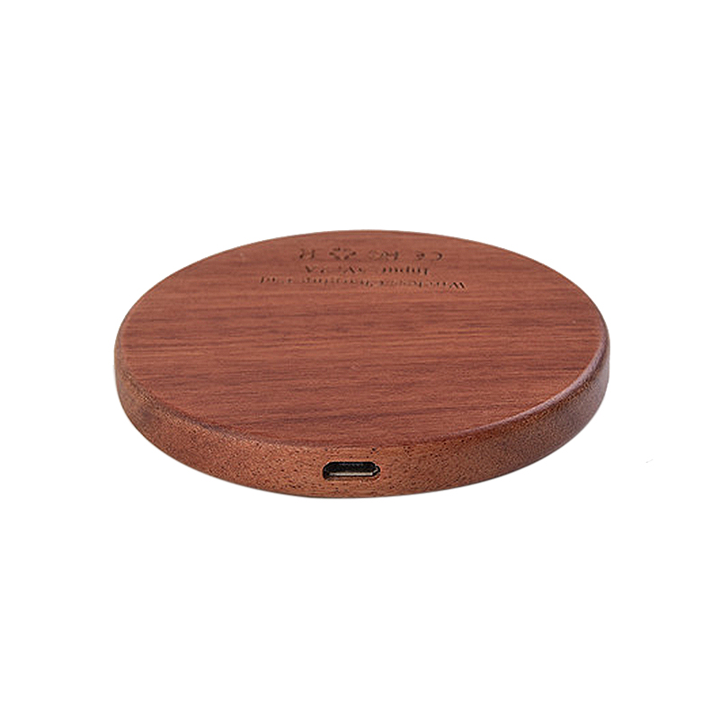 2020 New Products Wood+Metal Wireless Charger Custom Logo High Speed Safe Car Wireless Charging