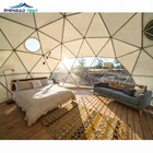 Steel Dome House Outdoor Greenhouse Camping Geodesic Dome Tent