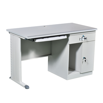 School/office furniture stainless steel metal computer desk for sale