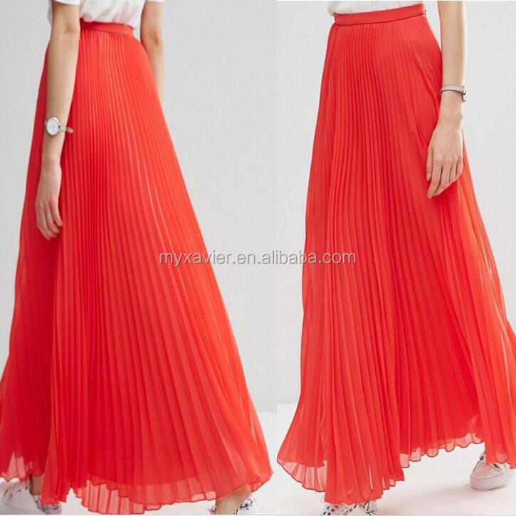 Latest Formal Skirt Blouse Patterns For Ladies With Fitted Waistband Latest Long Skirt Design Lined Pleated Chiffon Maxi Skirt Buy Maxi Skirt Latest Long Skirt Design Latest Formal Skirt Blouse Patterns For Ladies