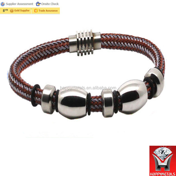 blank spanish personalized leather bracelets with magnetic clasp