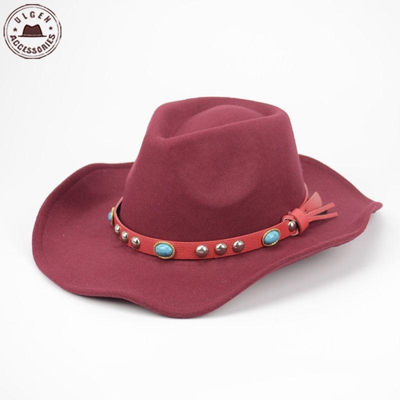 ed77db81c83 Cool Mens western cowboy hat black wool felt fedora hat classical stetson  Jazz hats large brim Mens panama Hat band fedora Caps.  2508247758 1468007979(1) ...