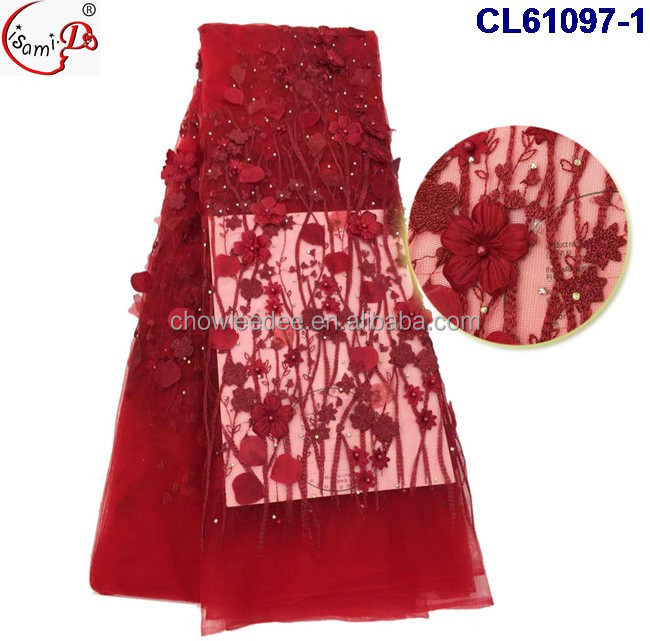 fine dress lace high quality embroidery CL61097 french lace