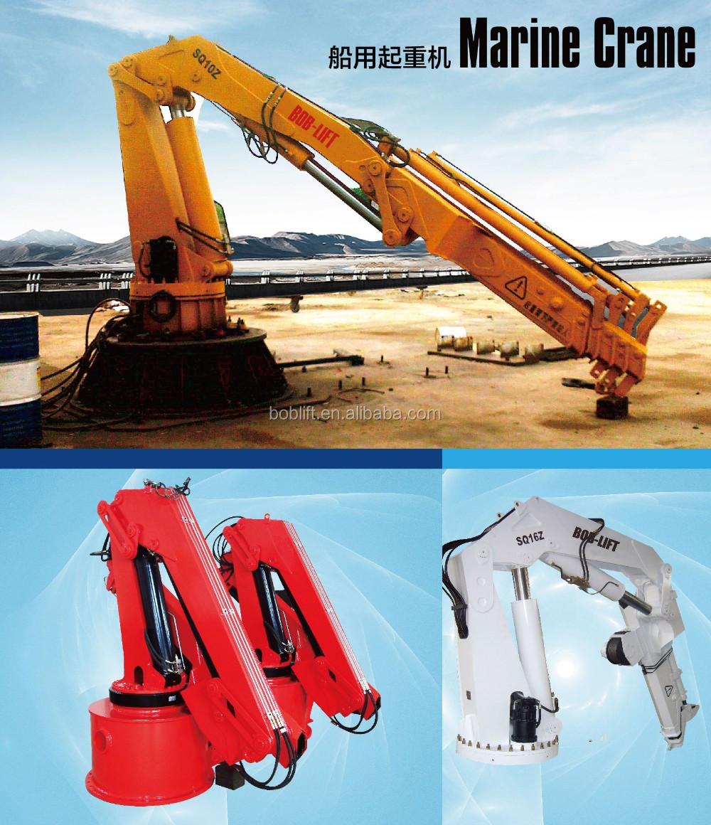 Knuckle Boom Cranes Manufacturers : Manufacturer hydraulic marine deck knuckle boom crane