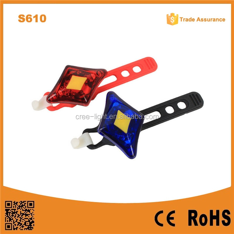 S610 New COB Led Bike Tail Safety Light raypal bike light