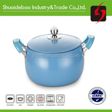 Alibaba stock pot non stick aluminum enamelware shrink mouth cooking pot