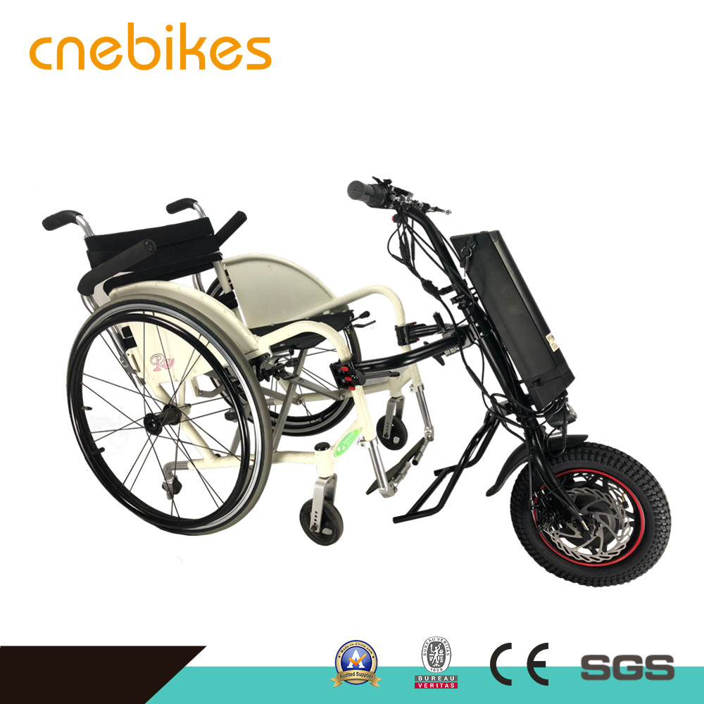 Rehabilitation Therapy Supplies 12 inch Electric wheelchair handcycle 36v 350w motor and 10.4ah battery