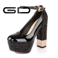 Black Blingbling Glitter Ladies Evening Shoes
