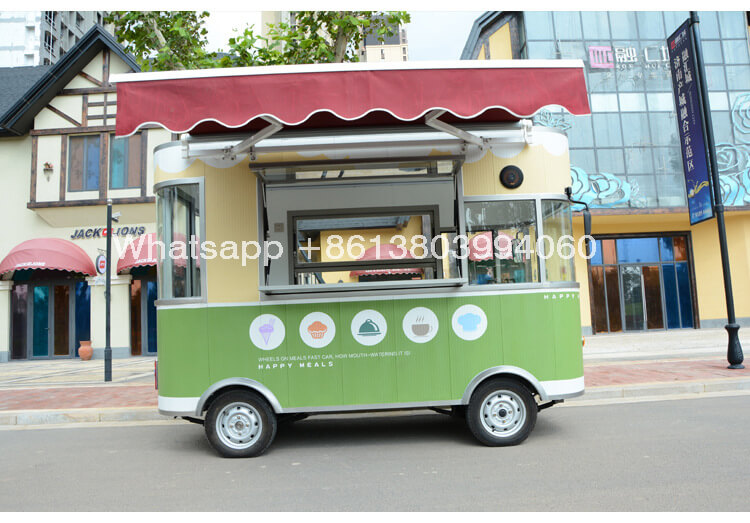 China Small Electric Street Mobile Food Cart Truck Trailer For Sale