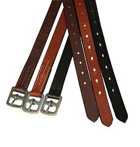 Derby Originals Premium English Stirrup Leathers Kids, Black