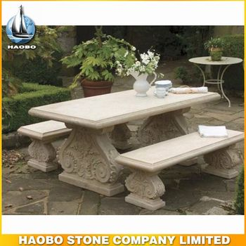Haobo China Wholesale Marble Stone Top Patio Table And Chairs