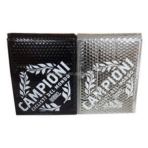 Factory Custom Printed Glossy Metallic Air Bubble Cushion Mailers