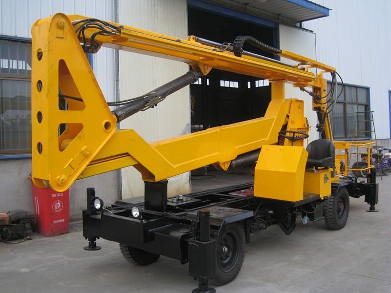 Articulated Hydraulic Arm : Ce articulated boom lift hydraulic arm lifting platform