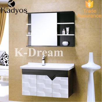 2016 bathroom vanity, wood washbasin cabinet design KD-BC003W