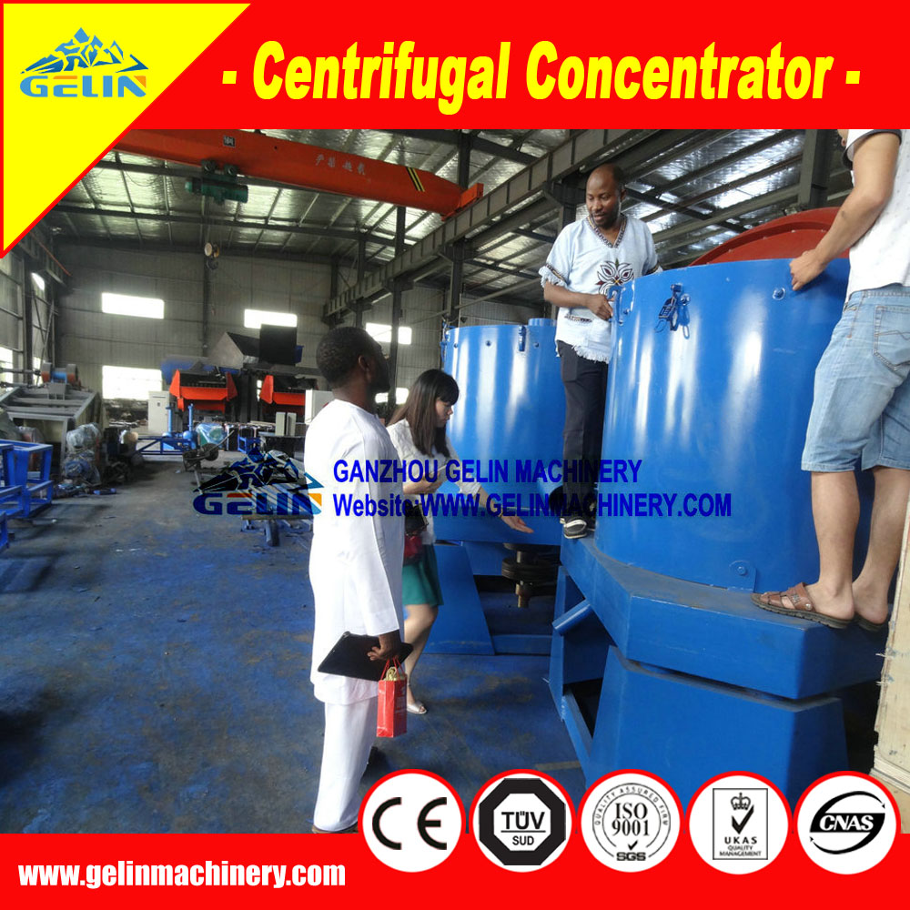 99% recovery ratio Gravity Knelson Gold Concentrator for gold washing and separation