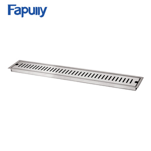 Fapully Bathroom accessories floor drainer/shower drain 304 Stainless Steel Big Size Long Rectangle Linear Bathroom Floor Drain