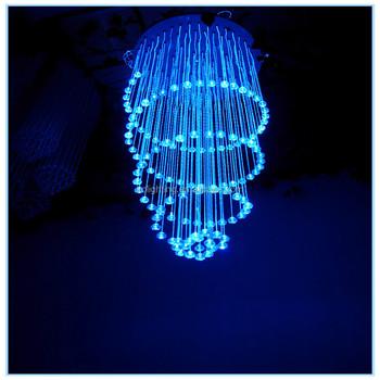 Schönen Kristall Hängende Dekoration Led Farbwechsel Fiberoptik Kronleuchter