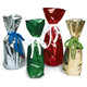 colored wrappers silver foil mylar wine bottle gift bags