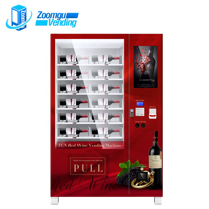 ZG OEM/ODM intelligent beer red wine elevator vending machine in france