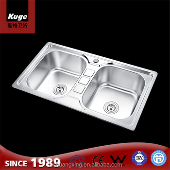 Commercial Restaurant Double Bowl Deep Stainless Steel Kitchen ...