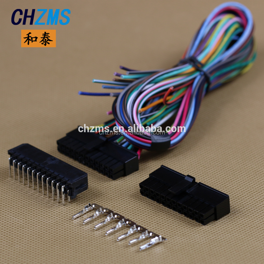 Electrical Wire Harness  Electronic Equipment Male And