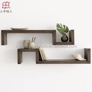 Newly Decorative Wooden Floating Wall Shelf,Wooden Wall Shelf Design ...